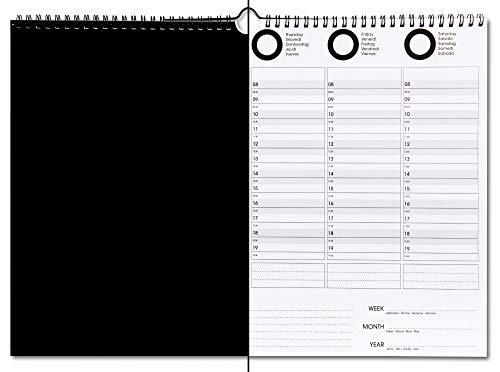 Agenda Calendario 2021 Planner Settimanale Mensile Giornaliero Perpetuo Da Tavolo E Muro Blocco 50 Fogli A3 Grandi Spirale Notebook Impegni Diario Planning Organizer per Scrivania Ufficio Casa