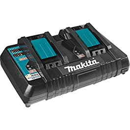 Makita DC18RD Chargeur Rapide pour 2 Batteries, Noir, Bleu
