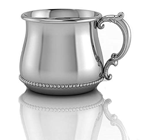 Krysaliis Sterling Silver Classic Beaded Victorian Bulge Cup by, FD-098