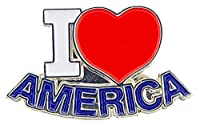 """USA & PATRIOTIC, I HEART AMERICA - Original Artwork, Expertly Designed PIN - 1"""""""