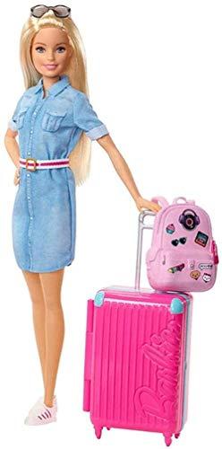 Muñeca de Moda y Set de Viaje con Equipaje para Cachorros y más de 10 Accesorios Set de Regalo para niños de 3 a 7 años 30CM