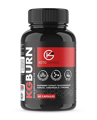 Fat Burner Maximum Fat Burn by Keto Grande High Strength Premium Formula 10x Natural Active Ingredients 60 Veg Capsules 30 Days Supply