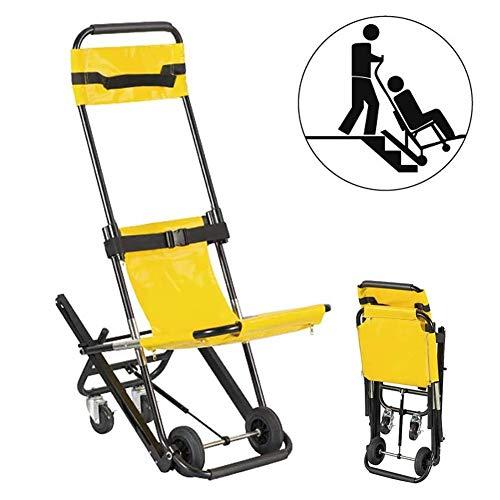 Fall Klappbahre, Stair Chair Aluminium Leichtgewichtler Ambulance Feuerwehrmann Evakuierung Medical Transport Lift Patient Restraint Straps