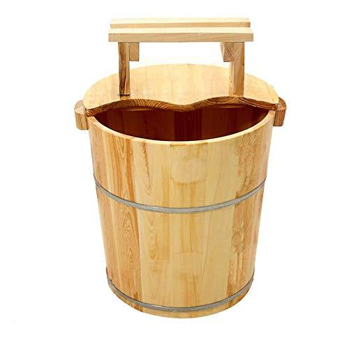 LJBXDCZ NJ staande badkuip – cederhout – natuurlijke vloerisolatie van massief hout met afdekking massage roken – reinigingsvat voor thuis – producten voor voetverzorging 3,4 Oro rosa + oro rosa