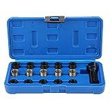 Reminnbor Kit de Herramientas de reparación de roscas de bujías 16 Piezas 14 mm x 1,25 M16 Tap con Estuche portátil