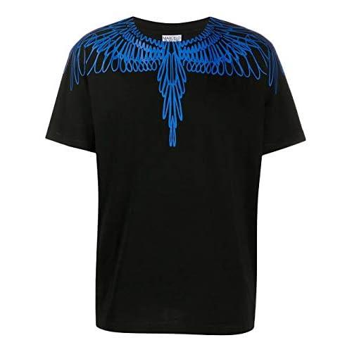 MARCELO BURLON Luxury Fashion Uomo CMAA018E20JER0031045 Nero Cotone T-Shirt | Autunno-Inverno 20