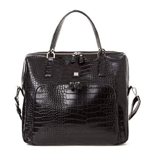 Unbekannt Jette Shopper Croco schwarz Schultertasche Tasche Damen 36x29cm