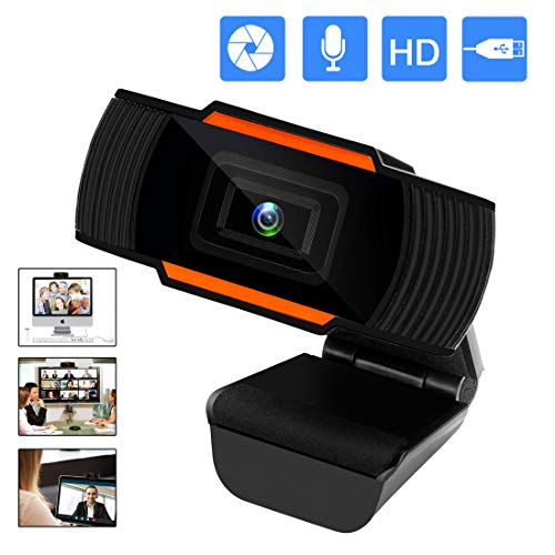 Mossworld Webcam mit Mikrofon Full HD 1080P Streaming Webcam für PC, Laptop, Mac, Plug & Play Webcam USB mit Autofokus und Weitwinkel für YouTube, Skype Videoanrufe, Lernen, Konferenz, Spielen