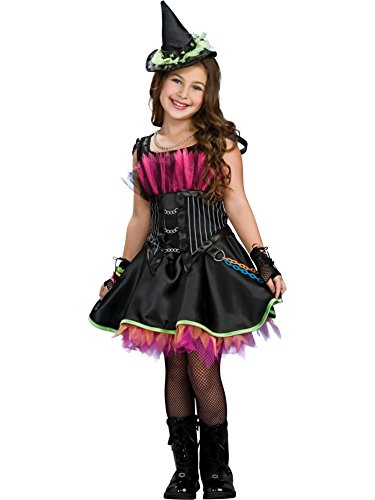 Rockin 'Out Sorcière - Halloween - Costume de déguisement pour enfants - Grand - 147cm