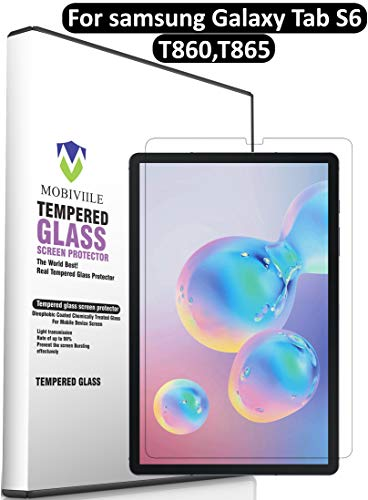 MOBIVIILE® 2.5D Curved 0.3mm Flexible Gorilla Tempered Glass Screen Protector, [10.5 Inch] [Anti-Scratch][Easy Installation][Bubble Free] Tempered Glass for Samsung Galaxy Tab S6 10.5 (2019)