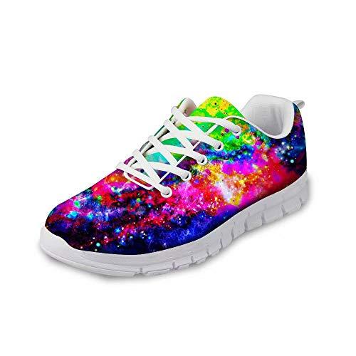 POLERO Sneaker Zapatillas de Deporte Galaxia para Dama Mujer con Cordones 39 Talla Europea