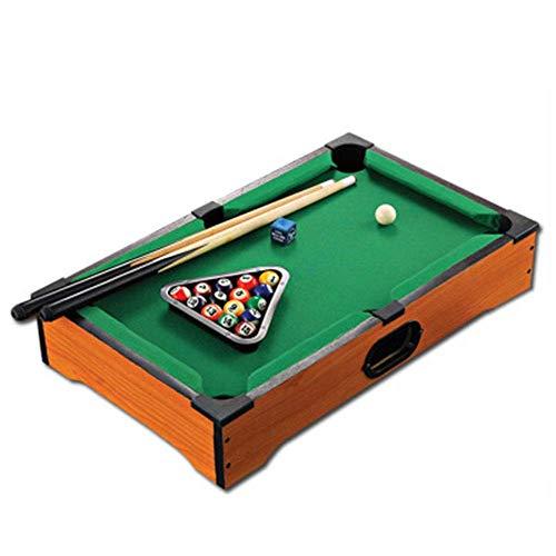 Kinder-Tischspiele, Mini Startseite Billardtisch Inklusive Spielbälle, Sticks, Kreide, und Dreieck Tragbare und Spaß for die ganze Familie (Farbe: Eine Farbe, Größe: 20.3 '' * 12.4 '' * 3.7 '') Zixin