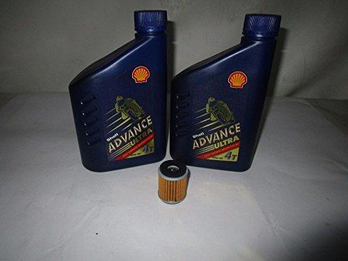 Kit révision huile 100 % synthétique SHELL pour WR R-X 250 WR F 450 YZF 450