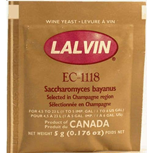 Lalvin Sparkling Wine Yeast EC-1118 Sachet 5g - Ideal for making Cider and...