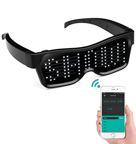 alavisxf xx LED Glasses, Bluetooth APP Connected LED Display...