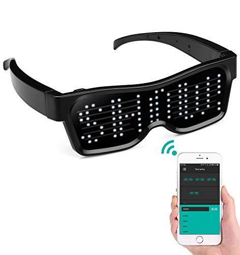 alavisxf xx LED Glasses, Bluetooth APP Connected LED Display...