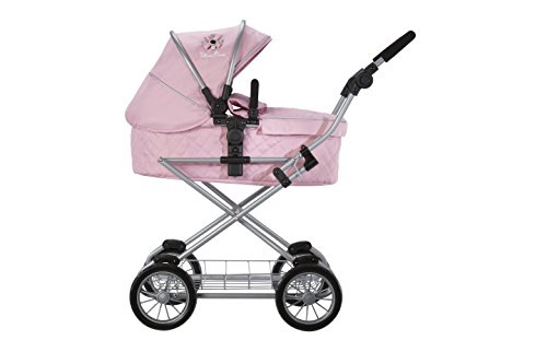 Silver Cross Sleepover reissysteem-poppenwagen - stof Vintage Pink. Voor kinderen van 5 tot 9 jaar.