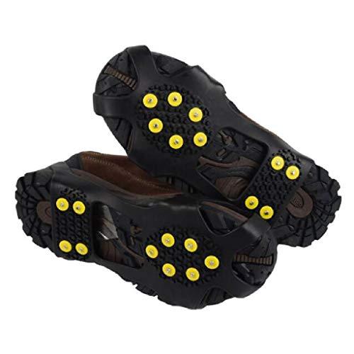 HYAHYUA Calambres para Los Ancianos Resbalones Antideslizantes Cubiertas De Zapatos Al Aire Libre Garras De Nieve Hielo Nieve Luz Hielo Captura Diez Dientes Equipo De Montañismo Pesca En Hielo