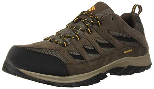 Columbia Men's Crestwood Waterproof Hiking Shoe, Mud, Squash, 12