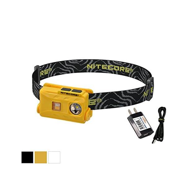 Nitecore NU25 360 lúmenes Triple Salida – Blanco, Rojo, Alto CRI – 0.99 oz Ligero USB Recargable Linterna Frontal con… 1