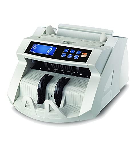 Geldzählmaschine BisBro Technology BB-2150CW | Erkennt Falschgeld sofort | Schnelles Geldscheinprüfgerät | Zählt sicher 1000 Geldscheine in der Minute | Euro | US-Dollar | Pfund