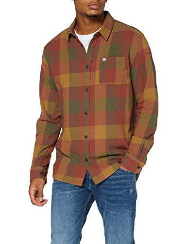 Quiksilver Herren Langärmliges Hemd Motherfly Flannel - Langärmliges Hemd für Männer, Henna Motherfly, M, EQYWT04015