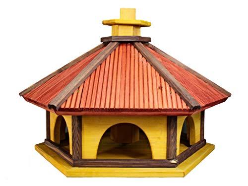 Vogelhaus XL 48cm Vogelhäuser Vogelfutterhaus Vogelhäuschen aus Holz Bunt Neu O