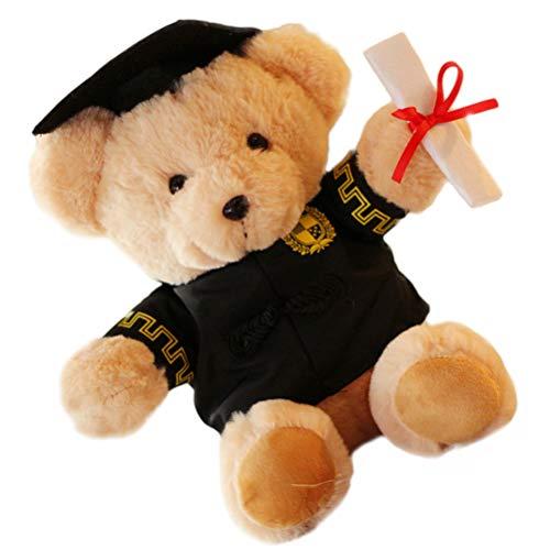 NUOBESTY Oso de peluche de graduación de 25 cm de oso de peluche con gorro de doctor para niños, cumpleaños, boda, 2021, fiesta de graduación