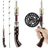 REAWOW Ice Fishing Rod and Fishing Reel Combination Portable Ultra Light Mini Fishing