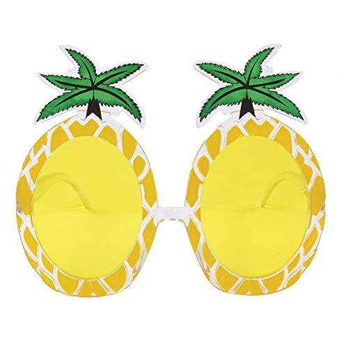 Sungpunet Tropische Fiesta-Party-Ananas-Sonnenbrille für Feiertage, Grill- und Sommerfest, Kunststoff-gelb