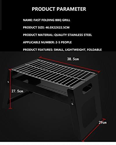 410l3BqcX7L. SL500  - QAZW Grill-Klappgrill Tragbare Camping-Installation im Freien Einfacher quadratischer Einweggrill für Outdoor-Aktivitäten Grillzubehör