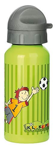 sigikid, Jungen, Trinkflasche mit Drehverschluss 0,4 l, Fußballer Kily Keeper, Grün, 23795