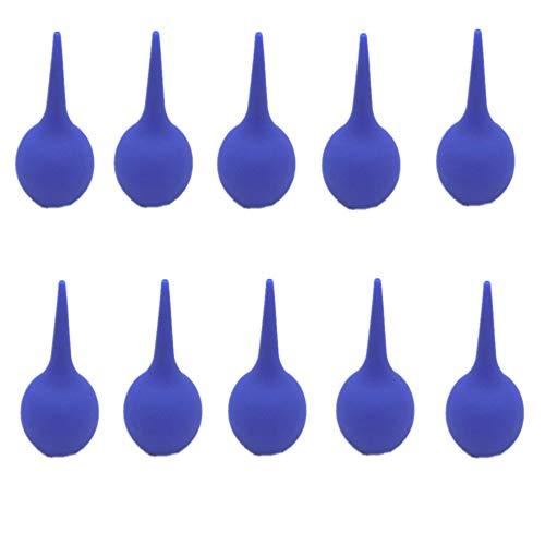 YUOCEAN 75ml Jeringa para oídos Lavado de oídos Succión de Goma Lechón de succión Bombilla Azul 5 PCS o 10 PCS