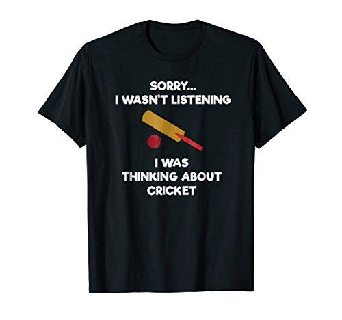 Cricket Game T-Shirt - Funny Listening - Bat