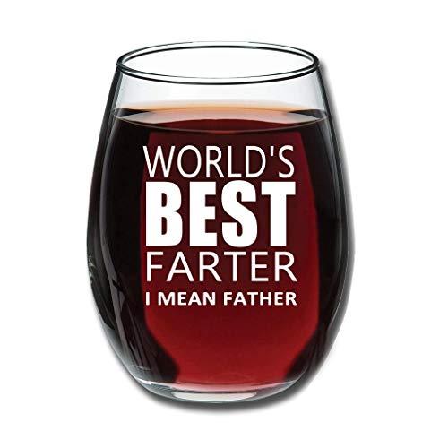 O3XEQ-8 Good Touch Der Beste Vater der Welt Rotweinglaswaren Upgrade Geätzt Obstglas - Lustiger Vater Personalisieren Home Decorations White 350ml