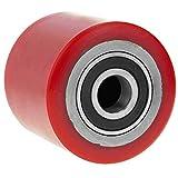 PrimeMatik - Rueda para transpaleta Rodillo de Poliuretano de 80x60 mm 700 Kg 4-Pack