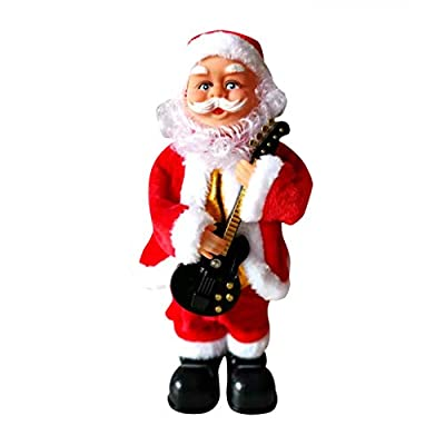 Christmas Hanging Ornaments,Jchen Electric Christmas Guitar Music Santa Claus Decoration Ornament Best Gifts for Your Kids Christmas New Year