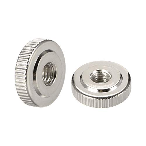 uxcell Knurled Thumb Nuts 6 Pcs M3 Round Knobs with Collar 304 Stainless Steel