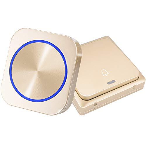 Draadloze Deurbel Deurbel Ring Chime Night Light Geen Batterij Plug Groot Comité 1 2 Knop 1 2 Receiver