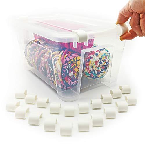 20 clips de cierre compatibles para contenedores Samla con cierre de clip – solo apto para cajas Samla cerradura, modelos de 5 litros, 11 litros, 22 litros