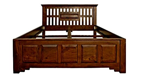 MASSIVMOEBEL24.DE Kolonialmöbel Bett 180x200 Akazie massiv Holz Oxford Classic #263