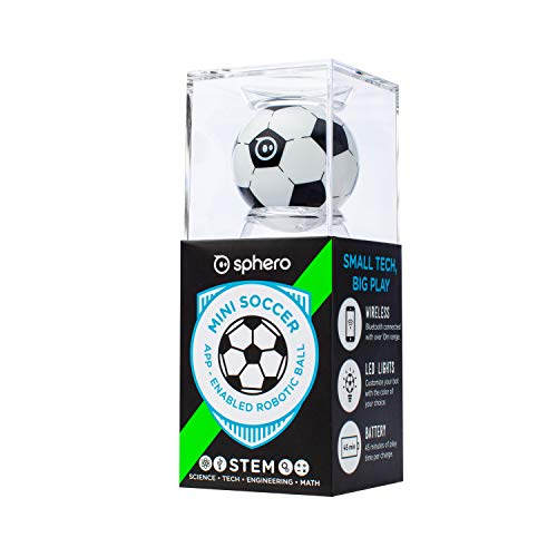 Sphero Mini Soccer: App-Enabled Programmable Robot Ball - STEM Educational Toy for Kids Ages 8 & Up - Drive, Game & Code with Play & Edu App