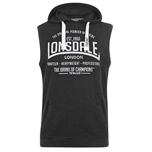 Lonsdale - Sudadera con capucha sin mangas para hombre