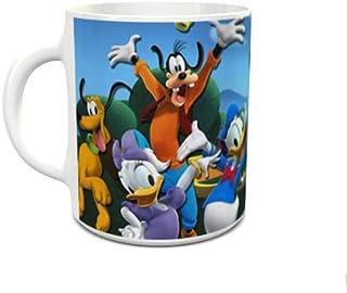 IMPRESS White Ceramic Coffee Mug with Micky and Friends Design 1001