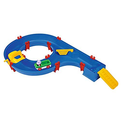 AquaPlay 8700001504 - Amphieset, ideaal instapmodel, inclusief speelfiguur Wilma (Hippo) en 1 amfibievoertuig, voor kinderen vanaf 3 jaar, blauw, 88 x 50 x 13 cm