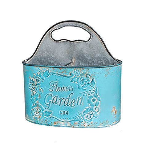 TONG Macetas, macetas de jardín colgantes cubos para colgar, maceta colgante de hierro forjado para colgar...
