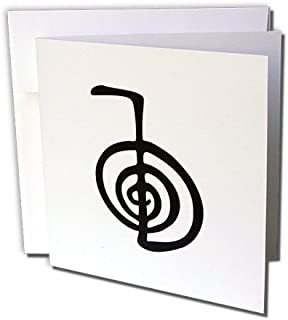 3dRose Reiki power symbol cho ku rei choku rei protection cleaning clearing energy or healing - Greeting Cards, 6 x 6 inches, set of 6 (gc_154526_1)