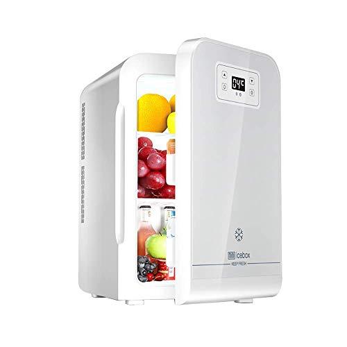 MQJ 22L Mini Nevera Personal Compacta con Pantalla Digital Refrigerador de Coche Ultra Silencioso Ruido Eléctrico Y Calentador Mini Refrigeradores Portátiles Freezer,Plata
