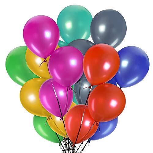 Luftballons | 100 Bunte Ballons | Mehrfarbige Perfekt für Parties | Latexballons für Hochzeit Weihnachten Party Geburtstag Luftballon Deko Ballons