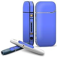 IQOS 2.4 plus 専用スキンシール COMPLETE アイコス 全面セット サイド ボタン デコ 青 単色 シンプル 012241